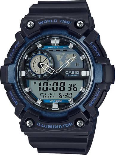 Armbanduhr analog, digital Casio AEQ-200W-2AVEF Schwarz, Blau