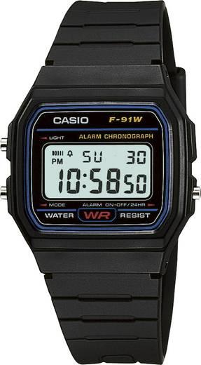 Armbanduhr digital Casio F-91W-1YEF Schwarz