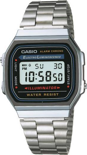 Armbanduhr digital Casio A168WA-1YES Silber