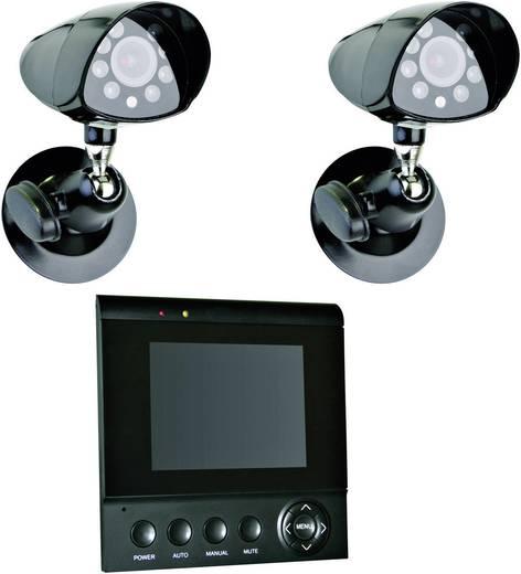 Smartwares Analog Videoüberwachungs-Set 2-Kanal mit 2 Kameras CS72SEC