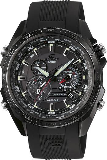 Armbanduhr analog Casio EQS-500C-1A1ER Schwarz
