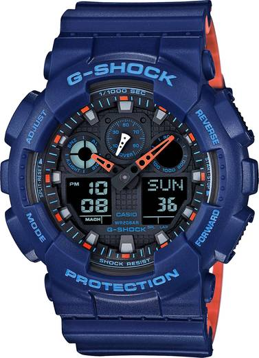 Armbanduhr analog, digital Casio GA-100L-2AER Blau