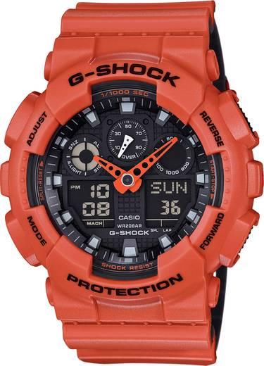 Armbanduhr analog, digital Casio GA-100L-4AER Orange, Schwarz