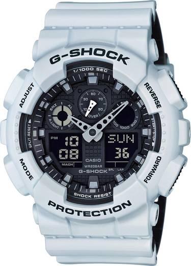 Armbanduhr GA-100L-7AER (B x H) 51.20 mm x 55 mm Weiß, Schwarz Gehäusematerial=Kunstharz Material (Armband)=Kunstharz C