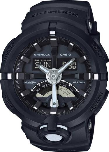 Armbanduhr analog, digital Casio GA-500-1AER Schwarz
