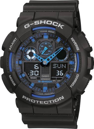 Armbanduhr GA-100-1A2ER (B x H) 51.20 mm x 55 mm Blau, Schwarz Gehäusematerial=Kunstharz Material (Armband)=Kunstharz Casio