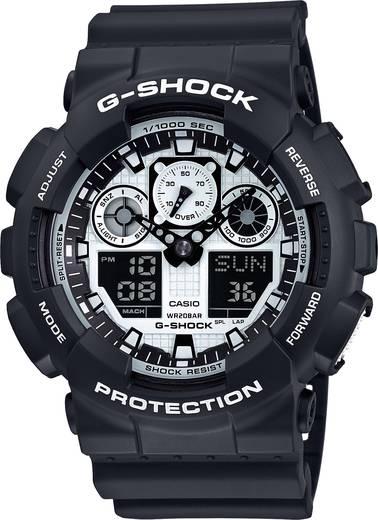 Casio Armbanduhr GA-100BW-1AER (B x H) 51.2 mm x 55 mm Schwarz Gehäusematerial=Kunstharz Material (Armband)=Kunstharz