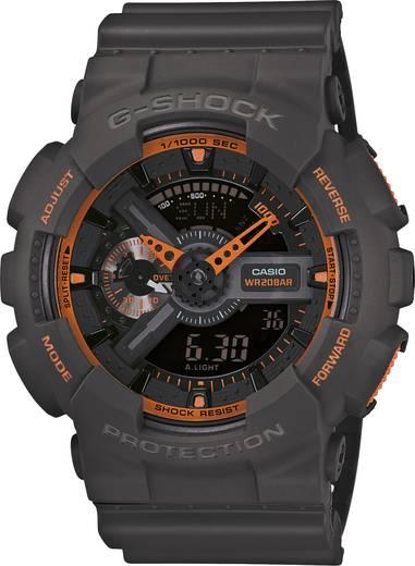 Armbanduhr GA-110TS-1A4ER (B x H) 51.2 mm x 55 mm Grau, Orange Gehäusematerial=Kunstharz Material (Armband)=Kunstharz Casio