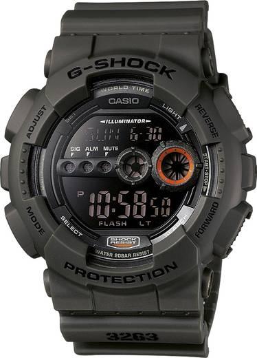 Armbanduhr GD-100MS-3ER (B x H) 51.2 mm x 55 mm Grün Gehäusematerial=Kunstharz Material (Armband)=Kunstharz Casio