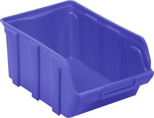 Lagersichtbox (L x B x H) 300 x 200 x 150 mm Blau VISO TEKNI4B TEKNI4B 1 St.