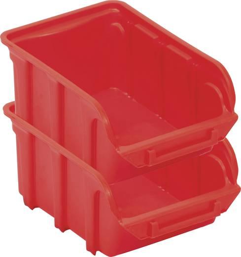 Lagersichtbox (L x B x H) 300 x 200 x 150 mm Rot VISO TEKNI4R TEKNI4R 1 St.