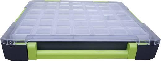 Sortimentskoffer (L x B x H) 375 x 70 x 425 mm VISO Anzahl Fächer: 21 feste Unterteilung