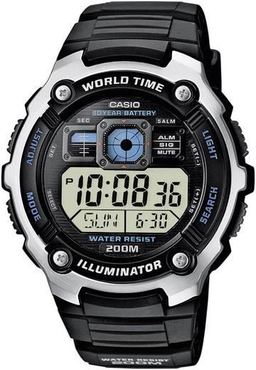 Casio Quarz Armbanduhr AE-2000W-1AVEF Schwarz, Silber Gehäusematerial=Kunststoff Material (Armband)=Kunststoff