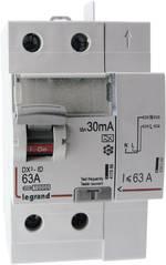 Interrupteur différentiel Legrand LEG 411639 Taille du fusible=3 63 A Type=A Vis/Auto