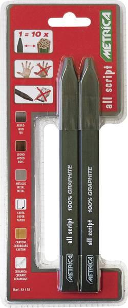 Crayons professionnels 100 % graphite 2 pcs Metrica 51151 51151
