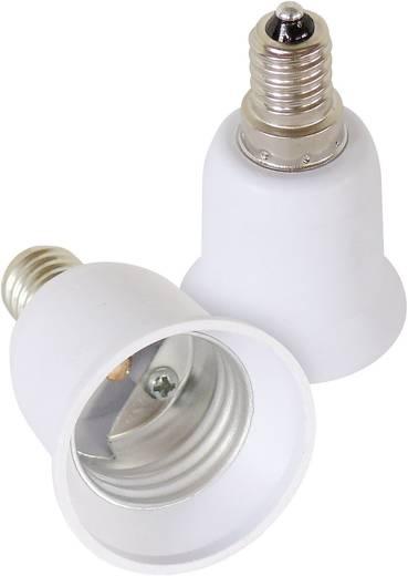 Lampenfassung-Adapter E14 auf E27 2er Set 206863 230 V 100 W