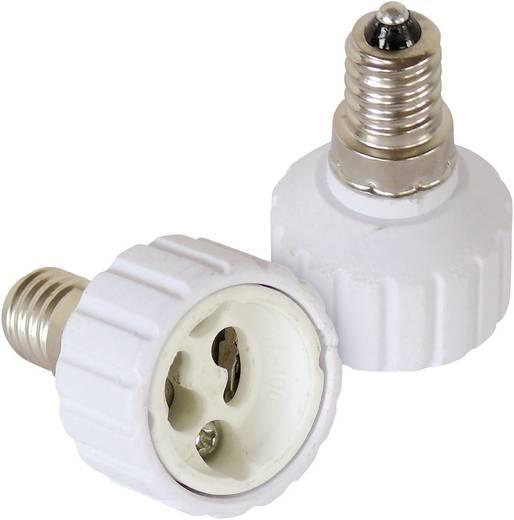 Lampenfassung-Adapter E14 auf GU10 2er Set 206864 230 V 100 W