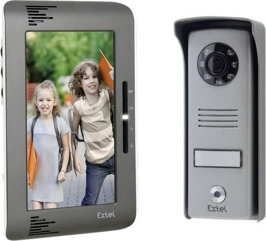 Extel 720292 Video-Türsprechanlage 2-Draht Komplett-Set 1 Familienhaus Aluminium, Dunkel-Grau
