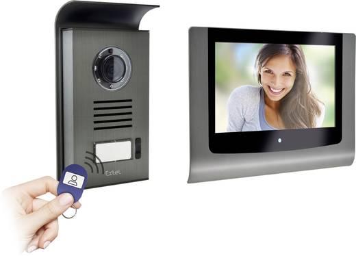 Extel 720289 Video-Türsprechanlage 2-Draht Komplett-Set 1 Familienhaus Aluminium