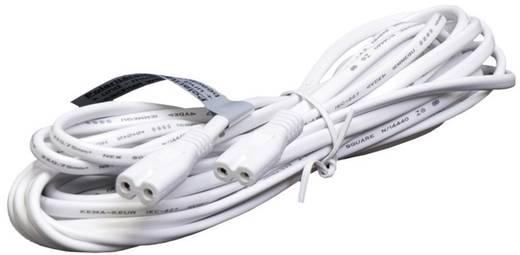 Strom Verlängerungskabel [ Kleingeräte-Stecker C8 - Kleingeräte-Stecker C8] Weiß 5 m Solar Trend 03101