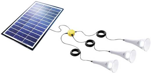 T-Lite Lightkit 3 Sundaya 350069 Solar-Set 10.5 Wp mit 3 Lampen, inkl. Anschlusskabel
