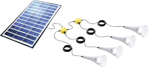 Solar-Set mit 4 Lampen, inkl. Anschlusskabel Sundaya 4 T-light 180 Kit 350070 Leistung 12 Wp