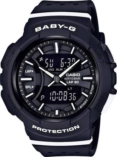 Casio Quarz Armbanduhr BGA-240-1A1ER (L x B x H) 46.4 x 42.6 x 15.3 mm Schwarz, Luxweiß Gehäusematerial=Resin Material (