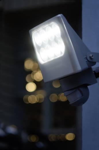 LED-Außenstrahler 24 W Neutral-Weiß ECO-Light LED-Design-Strahler Negara 6170 SP-SI Silber