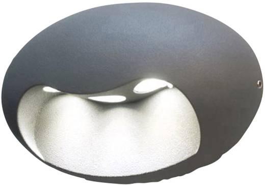 LED-Außenwandleuchte 6 W Neutral-Weiß ECO-Light LED-Design Leuchte Eyes 1860 SI Silber