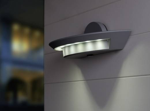 LED-Außenwandleuchte 34 W Neutral-Weiß ECO-Light LED-Design Leuchte Ghost 1880 L GR Anthrazit
