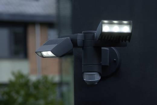 LED-Außenstrahler mit Bewegungsmelder 20 W Neutral-Weiß ECO-Light LED-Design Leuchte CORN 6156-PIR GR Anthrazit