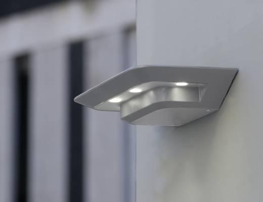 LED-Außenwandleuchte 12 W Neutral-Weiß ECO-Light LED-Design Leuchte GHOST 1881S SI Silber