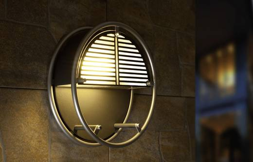 LED-Außenwandleuchte 6 W Neutral-Weiß ECO-Light LED-Design Leuchte WIRE 3441 SI LED Silber