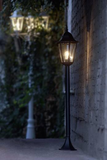 Außenstandleuchte mit Bewegungsmelder Energiesparlampe E27 100 W ECO-Light Bristol 11333 LJ-PIR SW Schwarz