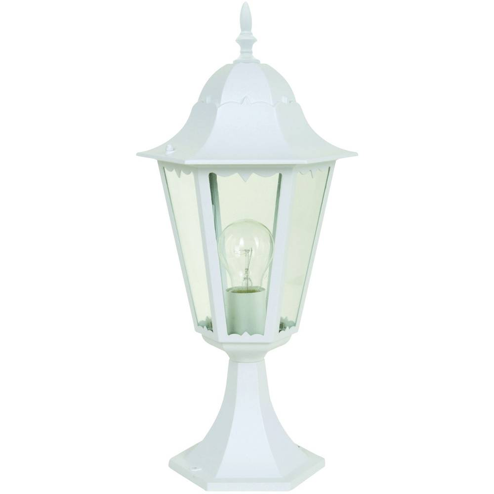 Lampadaire ext rieur eco light bristol blanc 49 cm for Illumination exterieur