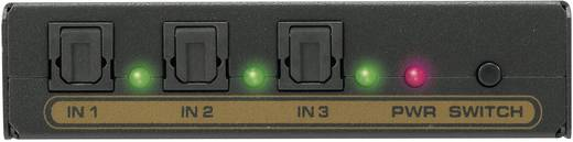 SpeaKa Professional 3 Port Toslink-Switch mit eingebautem Konverter Schwarz