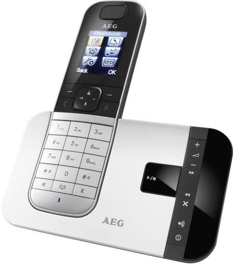 Schnurloses Telefon analog AEG Voxtel D575 Anrufbeantworter Silber, Schwarz