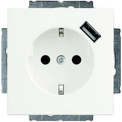 Busch-Jaeger Einsatz Schutzkontakt-Steckdose, USB-Steckdose Solo, Future Linear, Axcent Weiß 20 EUCBUSB-84