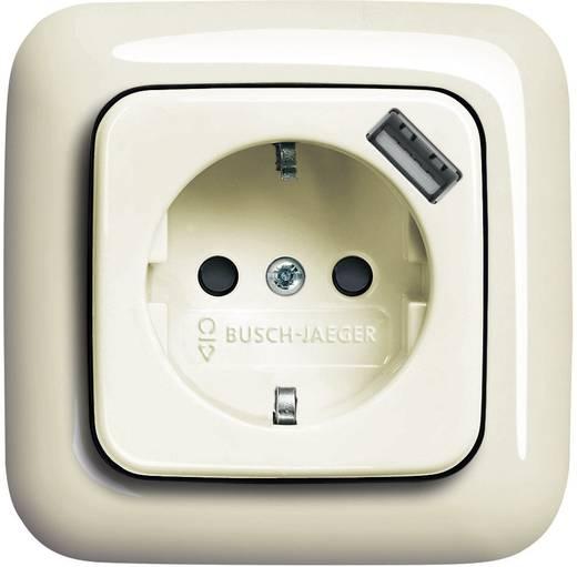 Busch-Jaeger Einsatz Schutzkontakt-Steckdose, USB-Steckdose Duro 2000 SI, Duro 2000 SI Linear Creme-Weiß 20 EUCBUSB-21