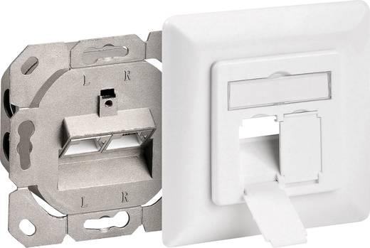 Netzwerkdose Unterputz Einsatz mit Zentralplatte und Rahmen CAT 6 Goobay 68246 Weiß