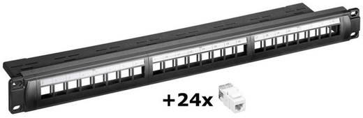 24 Port Netzwerk-Patchpanel Goobay 95336 CAT 6 1 HE