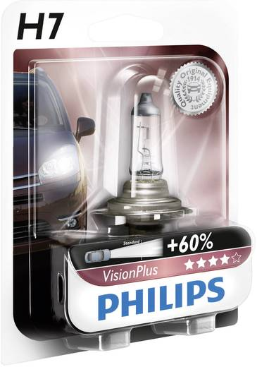 Halogen Leuchtmittel Philips VisionPlus H7 55 W