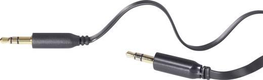 Klinke Audio Anschlusskabel SuperFlat [1x Klinkenstecker 3.5 mm - 1x Klinkenstecker 3.5 mm] 2 m Schwarz SpeaKa Professio