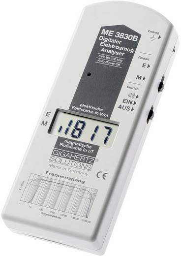 Gigahertz Solutions ME 3830B Niederfrequenz (NF)-Analysegerät, Elektrosmog-Messgerät, 16 Hz - 100 kHz, - 2dB (gemäß dem