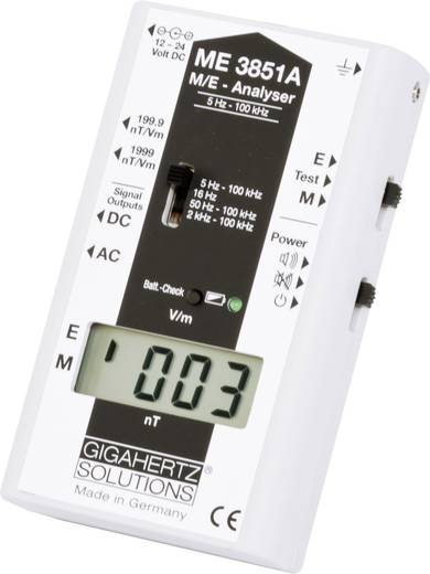 Gigahertz Solutions ME3851A Niederfrequenz (NF) Elektrosmog-Messgerät, 5 Hz - 100 kHz