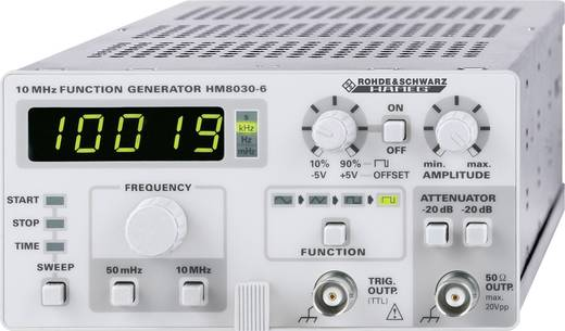 Rohde & Schwarz HM8030-6 Funktionsgenerator netzbetrieben 0.05 Hz - 5 MHz 1-Kanal Sinus, Dreieck, Rechteck, Puls ISO