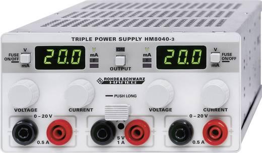 Rohde & Schwarz HM8040-3 Labornetzgerät, einstellbar 0 - 20 V/DC 0 - 0.5 A 25 W Anzahl Ausgänge 3 x Kalibriert nach DA