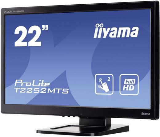Touchscreen-Monitor 55.9 cm (22 Zoll) Iiyama T2252MTS-B3 1920 x 1080 Pixel 16:9 2 ms VGA, DVI, HDMI™, USB, Kopfhörer (3.