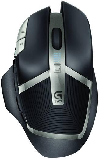 Funk-Gaming-Maus Optisch Logitech Gaming G602 Schwarz