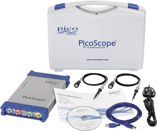 USB-Oszilloskop pico PP884 250 MHz 8-Kanal 5 GSa/s 256 Mpts 8 Bit Kalibriert nach ISO Digital-Speicher (DSO), Funktionsg